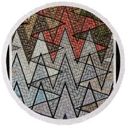 Abstract Floor  Round Beach Towel