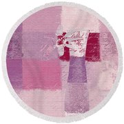 Abstract Floral - 11v3t09 Round Beach Towel