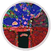 Abstract Floral Art 151 Round Beach Towel