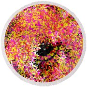 Abstract Floral Swirl No.3 Round Beach Towel