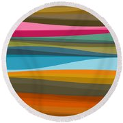 Abstract Flow Round Beach Towel