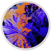 Abstract Flowers Of Light Series #1 Round Beach Towel