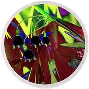 Abstract Flowers Of Light Series #10 Round Beach Towel