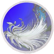Abstract Flowers Of Light Series #4 Round Beach Towel