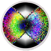 Abstract Fusion 264 Round Beach Towel