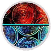 Round Beach Towel featuring the digital art Abstract Fusion 275 by Will Borden