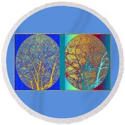Round Beach Towel featuring the digital art Abstract Fusion 276 by Will Borden
