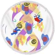 Round Beach Towel featuring the digital art Abstract Garden #5 by Bee-Bee Deigner