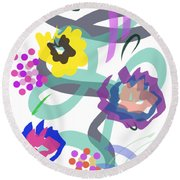 Round Beach Towel featuring the digital art Abstract Garden Nr 4 by Bee-Bee Deigner