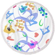 Round Beach Towel featuring the digital art Abstract Garden Nr 6 by Bee-Bee Deigner