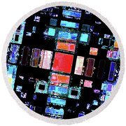 Round Beach Towel featuring the digital art Abstract Geometric Art by Phil Perkins