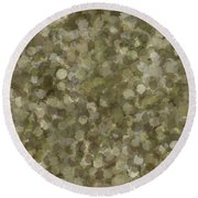 Round Beach Towel featuring the photograph Abstract Gold And Cream 2 by Clare Bambers