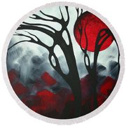 Abstract Gothic Art Original Landscape Painting Imagine I By Madart Round Beach Towel