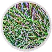 Abstract Grass Round Beach Towel