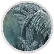 Abstract Ice Crystals Round Beach Towel