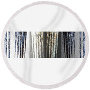 Round Beach Towel featuring the digital art Abstract Icicles by Will Borden
