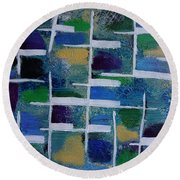 Abstract II Round Beach Towel