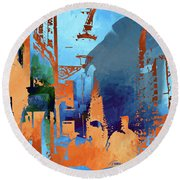 Abstract  Images Of Urban Landscape Series #1 Round Beach Towel