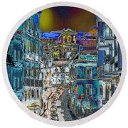 Abstract  Images Of Urban Landscape Series #11 Round Beach Towel
