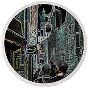 Abstract  Images Of Urban Landscape Series #12b Round Beach Towel