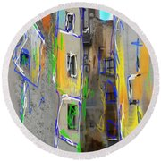 Abstract  Images Of Urban Landscape Series #13 Round Beach Towel