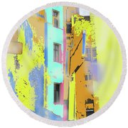 Abstract  Images Of Urban Landscape Series #2 Round Beach Towel