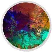 Abstract  Images Of Urban Landscape Series #4 Round Beach Towel