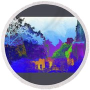 Abstract  Images Of Urban Landscape Series #8 Round Beach Towel