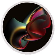 Abstract In 3d Round Beach Towel