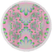 Abstract In Pastels Round Beach Towel by Linda Phelps