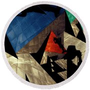 Round Beach Towel featuring the photograph Abstract Iterations by Wayne Sherriff