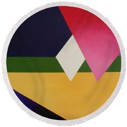 Abstract Round Beach Towel by Jamie Frier