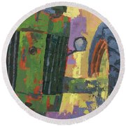 Abstract Johnny Round Beach Towel