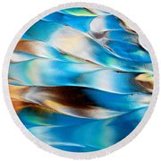 Abstract L1015al Round Beach Towel