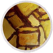 Abstract Lamp #2 Round Beach Towel