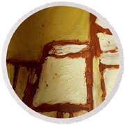 Abstract Lamp Number 4 Round Beach Towel