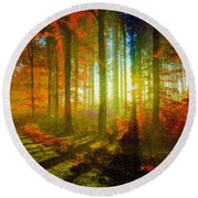 Abstract Landscape 0745 Round Beach Towel
