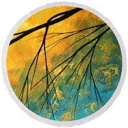 Abstract Landscape Art Passing Beauty 2 Of 5 Round Beach Towel