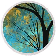 Abstract Landscape Art Passing Beauty 3 Of 5 Round Beach Towel