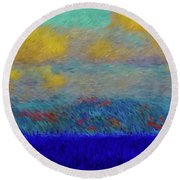 Abstract Landscape Expressions Round Beach Towel