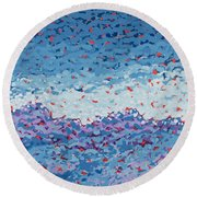 Abstract Landscape Painting 1 Round Beach Towel