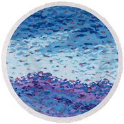 Abstract Landscape Painting 2 Round Beach Towel
