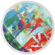 Abstract Landscape1 Round Beach Towel