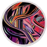 Abstract Line C6 Round Beach Towel