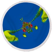 Abstract Lobster 9137205141 Round Beach Towel