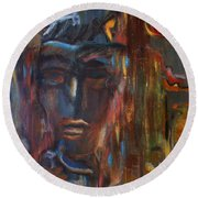 Abstract Man Round Beach Towel