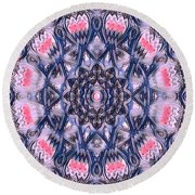 Abstract Mandala Pattern Round Beach Towel