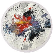 Abstract Melody Round Beach Towel