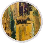 Abstract Mix Round Beach Towel