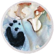 Round Beach Towel featuring the painting Abstract Modern Art - The Vessel - Sharon Cummings by Sharon Cummings